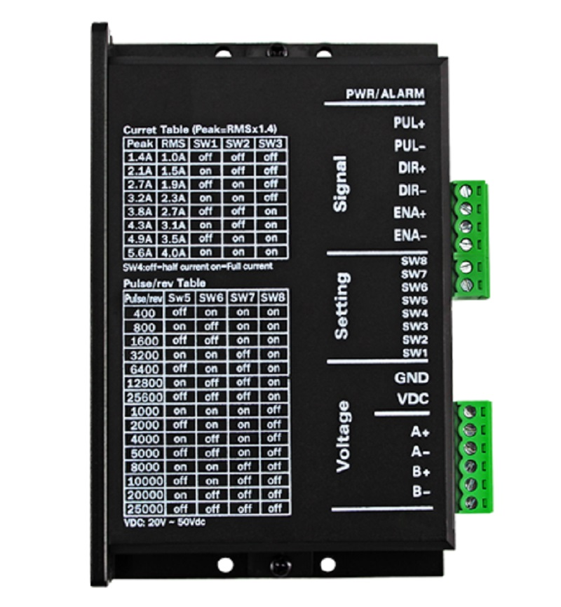 2phase NEMA23 hybrid stepper motor driver DSP DC36V 4A MC556 replace DM556 new nema 23 stepper motor driver m542 dsp work 24v 50vdc output 1 0a 4 2a current dsp design low noise precision low costs