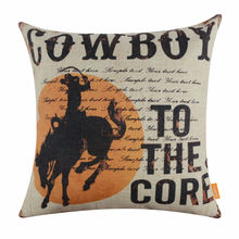 LINKWELL 18 x18 American Style West Cowboy Sunset Riders To the Core for Man Cave Decor