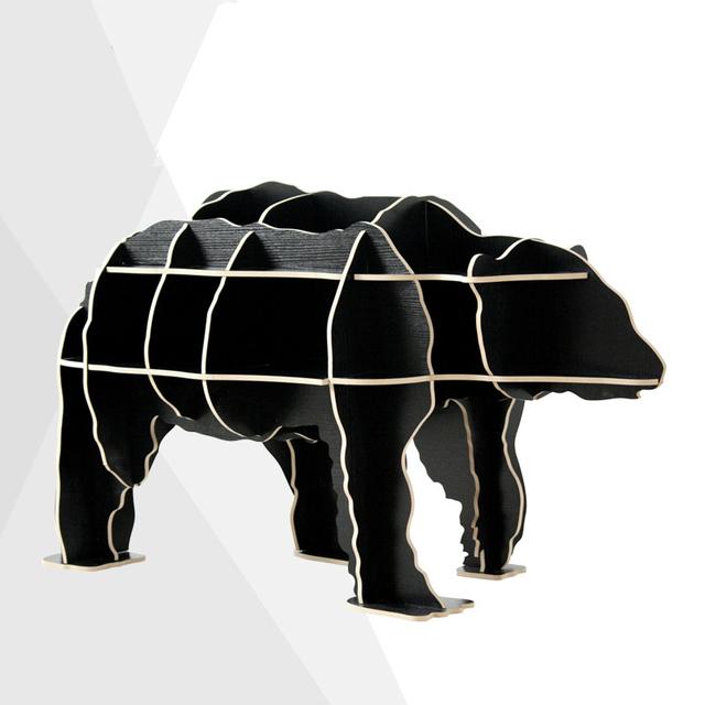 Urso criativo Mesa Lateral estilo Nórdico log mobiliário de casa decoração do hotel bar restaurante decoração frete grátis