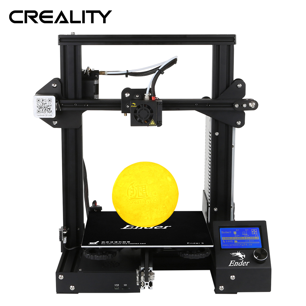 Creality 3D Ender-3/Ender-3X/Ender-3 Pro открыть построить принтер Magic Съемная поверхность платформы с Мощность off резюме печати