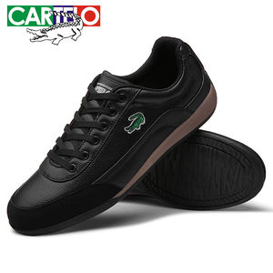 Image 4 - Cartelo新メンズカジュアルシューズ通気性ウェアラブル靴快適なホワイト丸頭ストラップフラットsnekaers
