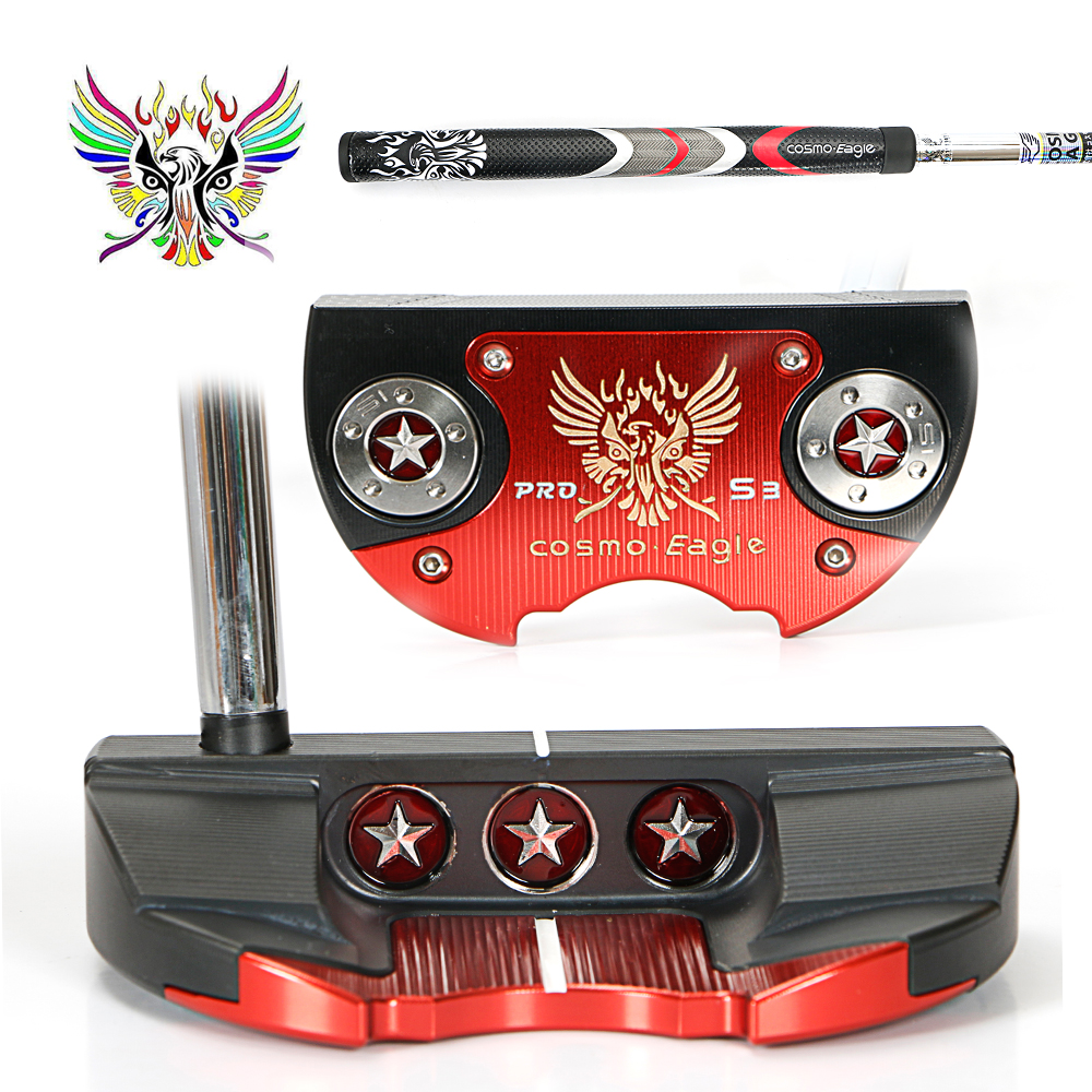 Golf putter perfect razors striking surface golf Cosmo Eagle patented putter 3clour to choose free shipping golf putter steel color tour only 2 33 34 35 inch high quality cnc putter free shipping