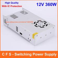 High Quality 12V 30A 360W Switch Power Supply Switching Driver Adapter For Transformer LED Strip Light Display 110V / 220V(China (Mainland))