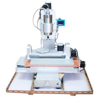 110 220V 5 Axis Cnc Router 3040 Milling Machine Ball Screw Table Column Type Woodworking Carving