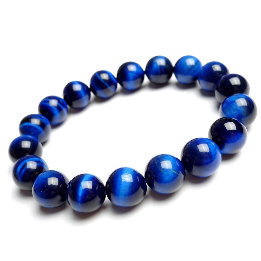 blue green black stretch bracelet 7 inch
