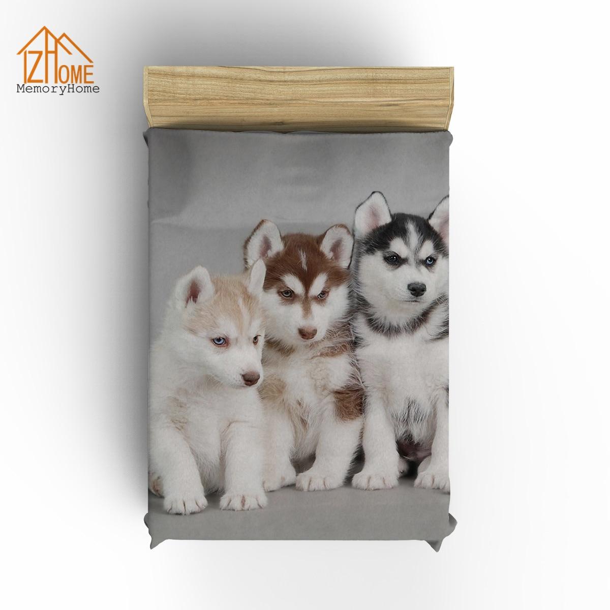 US $20.34 45% OFF Memory Home Siberian Husky Puppies Dogs Pets Coral Fleece  Fabric Blanket Sofa Bed Throw Blanket Kid Adult Blanket Best Gift-in ...