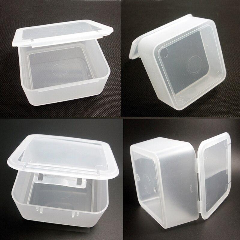 Boxen Klein- & Hängeaufbewahrung Hot Sale Simple Storage Box Portable Flip Jewelry Box Square Plastic Small Box