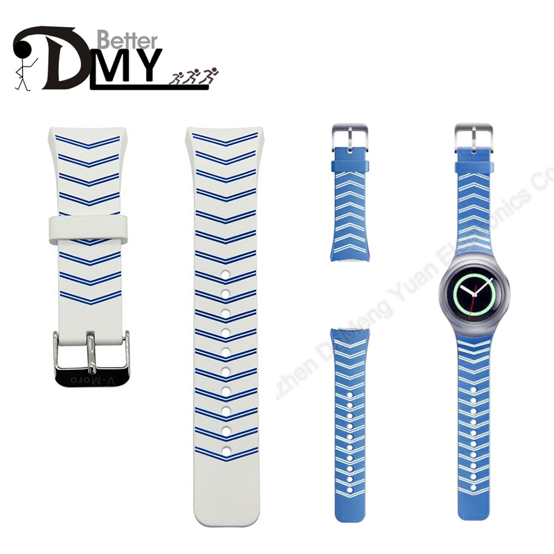 DMY - Better Top Quality Luxury brand Silicone Rubber Watch Band Strap For Samsung Galaxy Gear S2 SM-R720 Replacement Straps