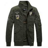 Top Quality 100 Cotton Fabric Military Style Pilot Jacket Outwear Coat For Men Spring Autumn Winter