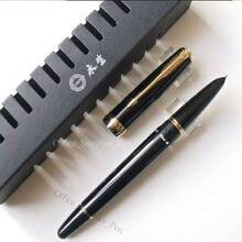 Wing Sung 618 поршневая перьевая ручка, черный перьевой наконечник с золотым зажимом, офисные школьные принадлежности, penna stilografica