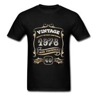 40th Birthday Gift Men T Shirts Short Sleeve 1978 Aged Perfectly Clothing Luxury Brand Men T