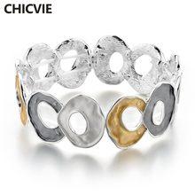 Chicvie ретро браслет из нержавеющей стали для женщин Роскошные
