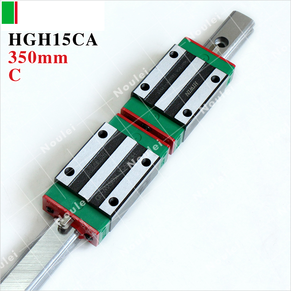HIWIN Linear Slide HGH15CA,15mm HGR15 350mm Linear Guide Rail for CNC Parts 15mm linear rail guide hgr15 l 350mm 1000mm linear guideway 2pcs hgh15cazac square rail block preload accuracy replace hiwin