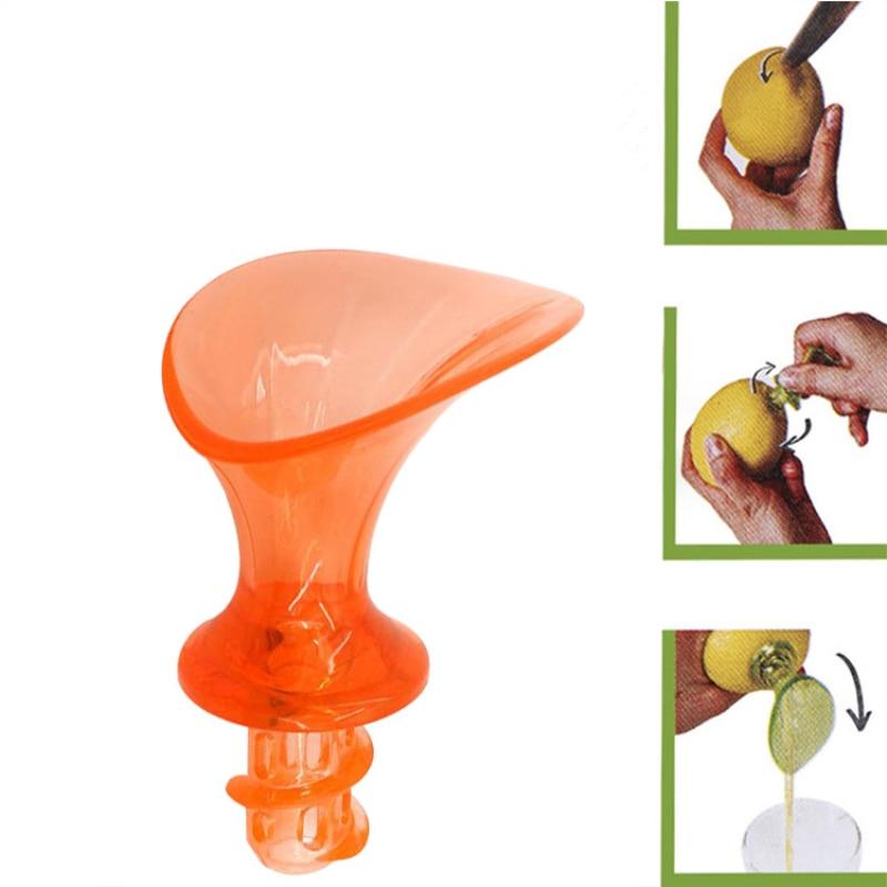 أداة ضغط يدوية محمولة من البلاستيك قطعة واحدة أداة مطبخ متعددة الوظائف أداة تجفيف يدوية لعصارة الليمون البرتقالي