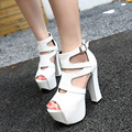 Free shipping 2017 Europe Spring new fashion Gladiator sandals women shoes high-heeled 14cm