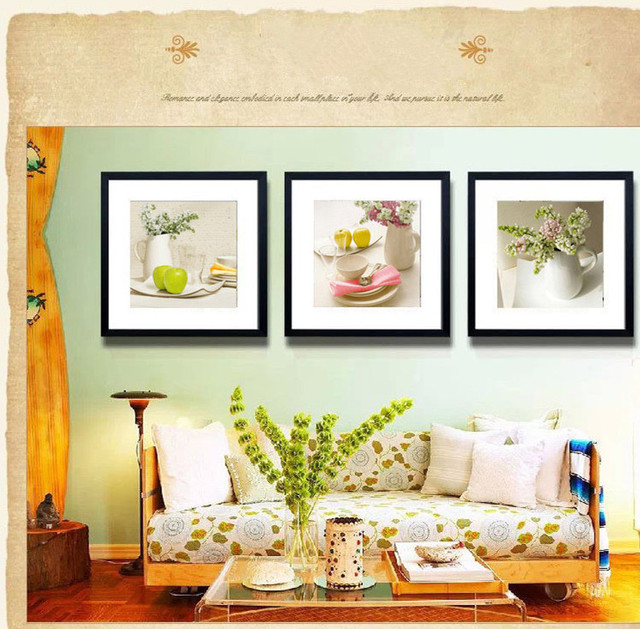 Modern Fuirt Combination Prints Painting with Frame for Kitchen ...