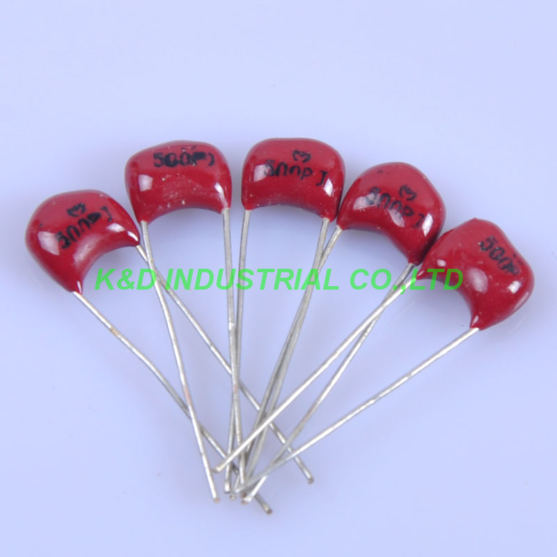 10pcs Guitar Amplifier Silver MICA Capacitor 500pF 500V Radial For Audio Amp