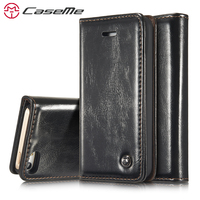 CaseMe For IPhone 5 5s SE Luxury Retro Magnetic Leather Stand Flip Wallet Card Pocket Phone