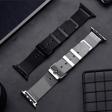 Nueva Banda milanesa de acero inoxidable para Apple Watch Band 38mm 40mm 42mm 44mm para Apple Iwatch correa de la serie 1, 2, 3, 4 correa de acero(China)