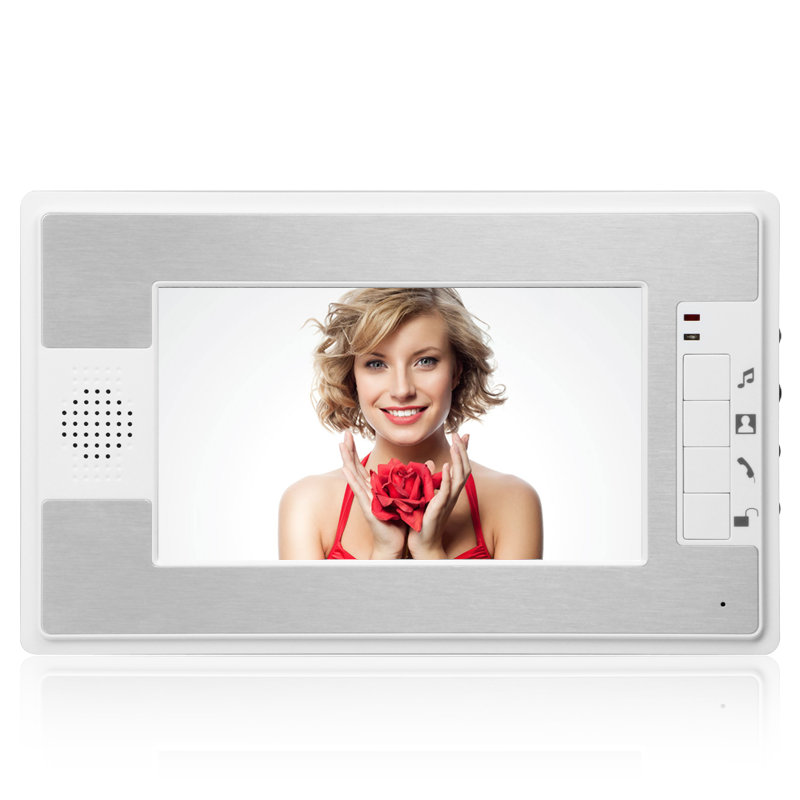 YobangSecurity 7 Inch Wired Video Door Entry System Color LCD Screen Monitor Video Door Intercoms