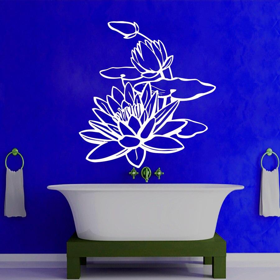 Creative Bathroom Interior Design elegant luxury design of the beach bathroom designs that has white modern ceramis floor can be Dctop Creative Bathroom Lotus Wall Sticker Pvc Waterproof Home Decor Interior Design Studio Art Murals