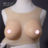 MP-002 Realistic Silicone Breast Forms Artificial Boobs Enhancer Crossdresser for man shemale Trandsgender tit