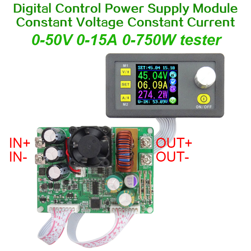 DPS5015 15A Constant Voltage current Step-down Programmable digital Power Supply buck Voltage converter color LCD voltmeter  цены