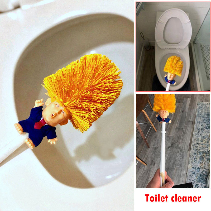 Donald Trump Toilet Brush Funny Gag Gift Hand Made Make Toilet Great Again hi