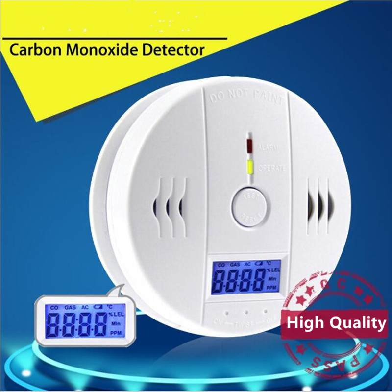 Home sirens Security Carbon Monoxide Alarm /CO Detector With LCD Display Poisoning Gas detector Sensor 85db Warning Alarm System golden security lpg detector wireless digital led display combustible gas detector for home alarm system