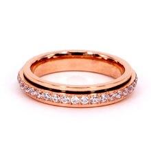Модное и роскошное кольцо с микро инкрустацией из кристаллического