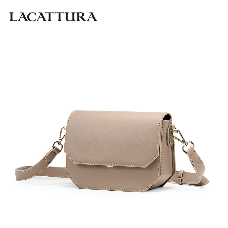 купить LACATTURA Women Shoulder Bags Lady Small Flap Bag Designer High Quality Handbag Fashion Messenger Mini Bag Crossbody for Young по цене 2714.46 рублей