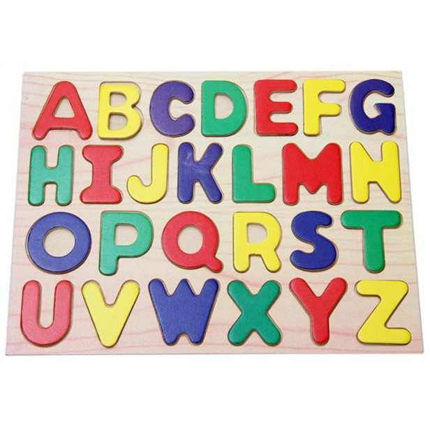 Wooden letter puzzle child puzzle number puzzle toy 02 in for Number and letter puzzles