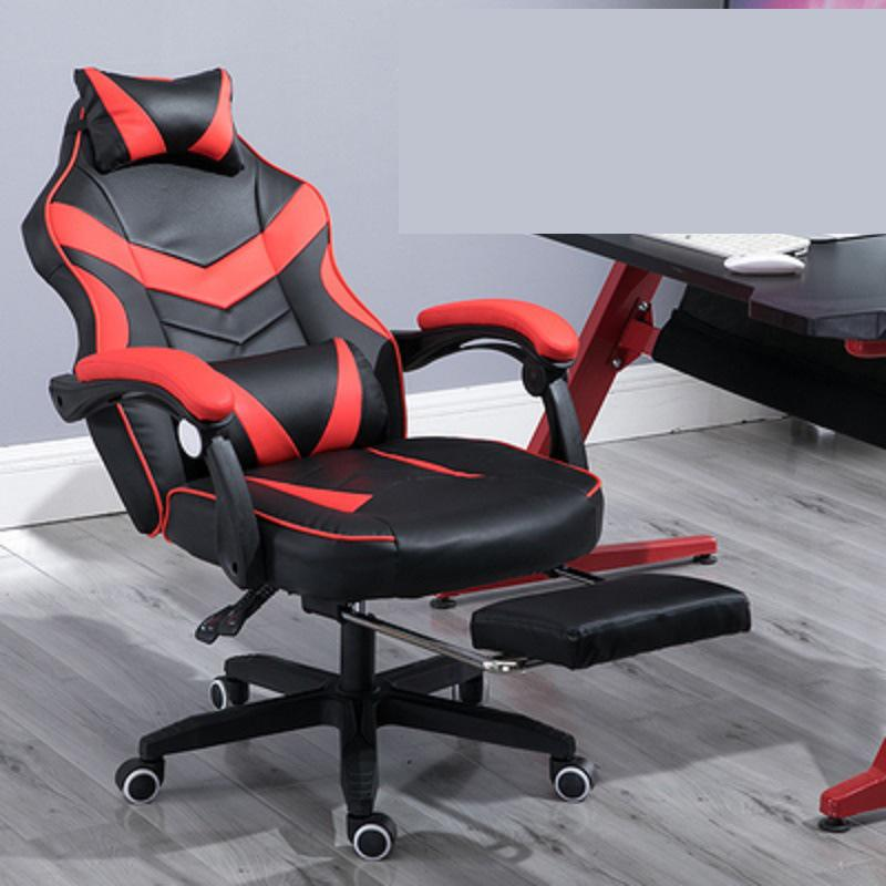 Gaming Chair Electrified Internet Cafe Pink Armchair High Back Computer...