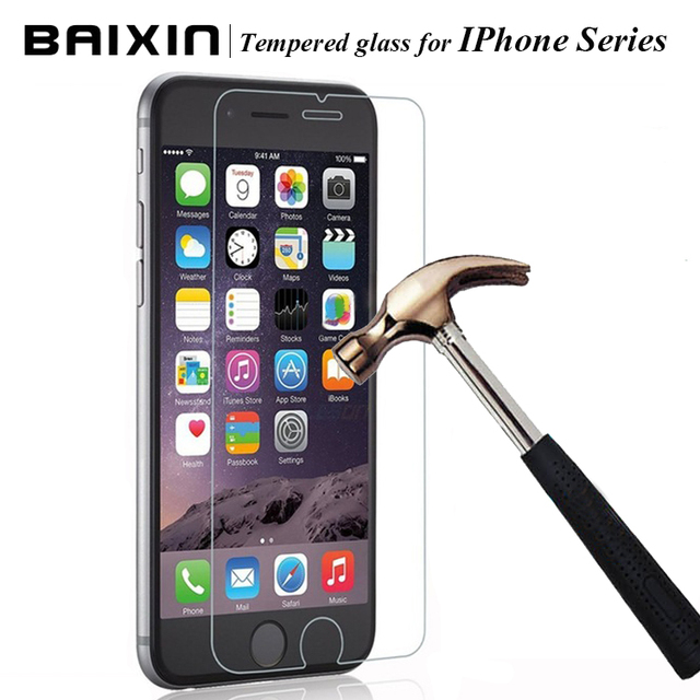 """0.3mm 2.5D Ultra-thin Tempered Glass Screen Protector for iPhone 4 4s 5 5c 5s SE 6 6s plus for iphone 6 6 s 4.7"""" +Cleaning kits"""
