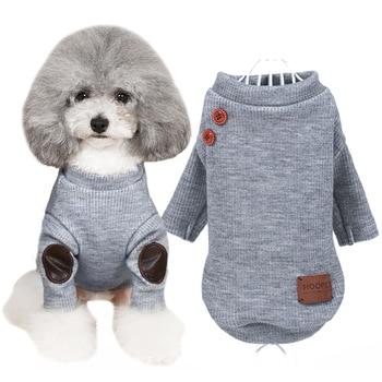 Cute Cat Pet Dog Maglione lavorato a maglia crochet vestiti Cani di piccola Taglia cucciolo Felpe Abbigliamento per animali da compagnia cane molla giacca cappotto con cappuccio