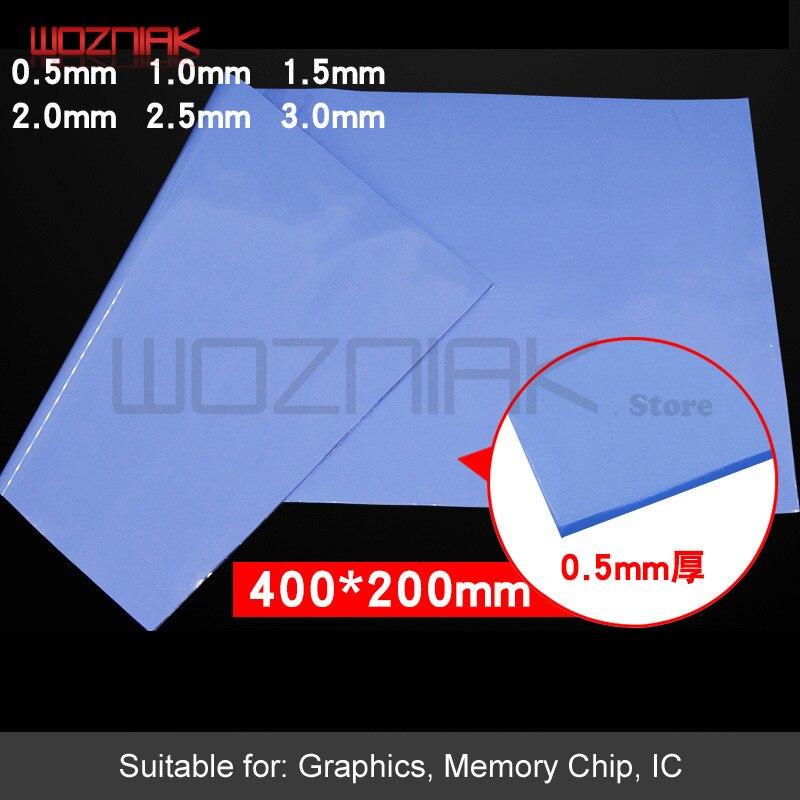 Diy Gel De Sílice Conductivo Térmico 0,5 Mm/0,1mm Memoria De Cpu Azul Disipación De Estado Sólido Almohadilla De Silicona De Calor Alta La Conducción De Calor