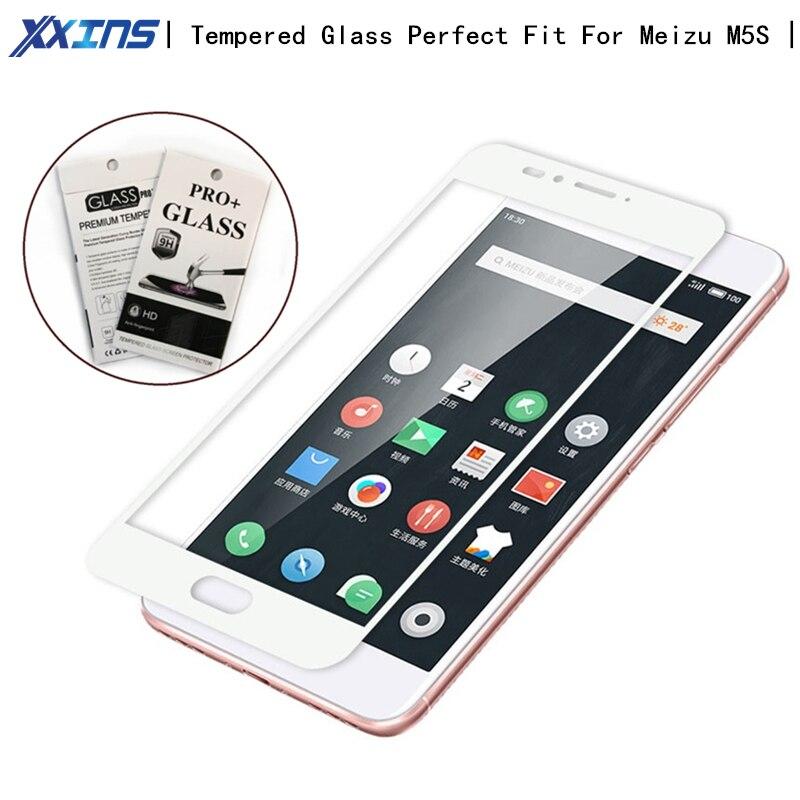 Tela de Vidro De proteção Para Meizu cobertura completa M5S design Requintado cor do smartphone telefone móvel de VIDRO Temperado + pacote de varejo