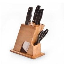 Neue Multifunktionale Küche Zubehör Bambus Messerhalter Belüfteten Trockenen Messerbänkchen Gesundheit Kreative Holz Messerblock