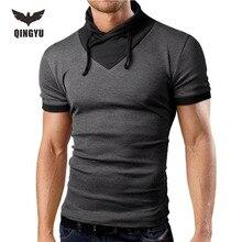 T Shirt Homme 2016 Short Sleeve T Shirt Patchwork V Neck Men T Shirt font b