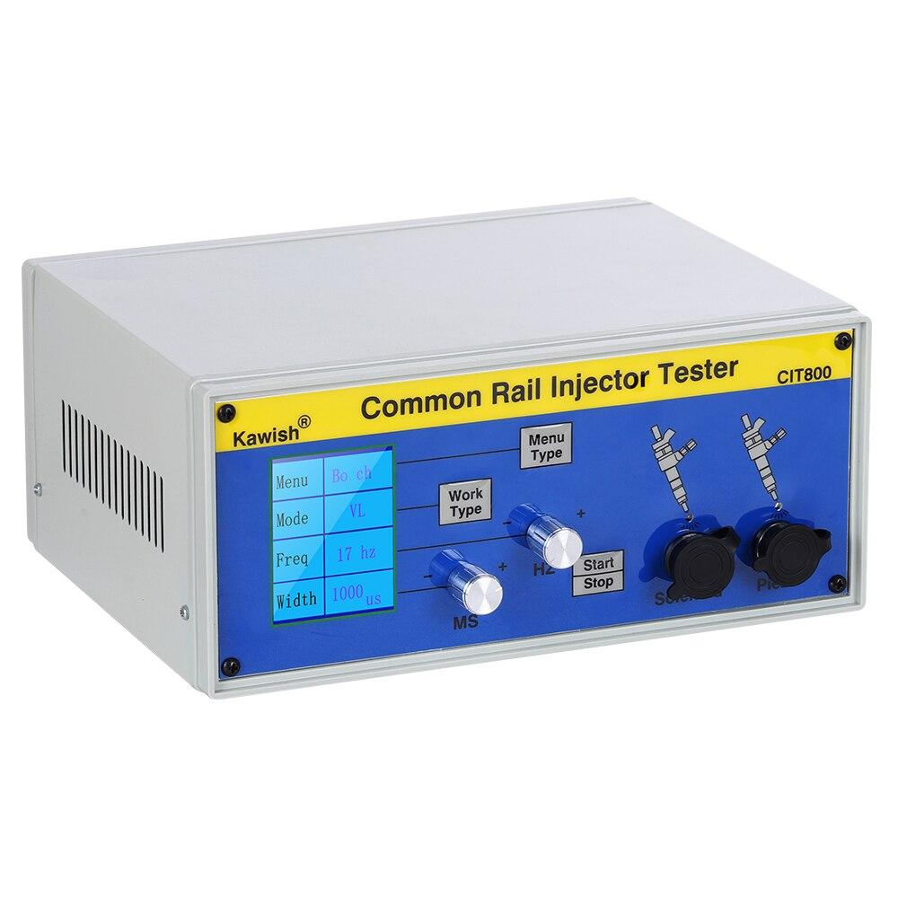 Livraison gratuite! Grand ÉCRAN LCD CIT800 diesel common rail testeur d'injecteur diesel Piezo Injecteur testeur électromagnétique injecteur pilote