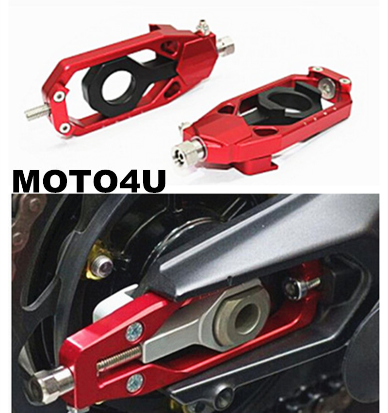 MOTO4U Motorcycle Chain Adjusters Tensioners Aluminum Fit For Aprilia RSV4 2009 2010 2011 2012 2013 2014 2015 motorcycle cnc chain adjusters tensioners with spool fit for aprilia rsv4 2010 2014 2010 2011 2012 2013 2014 10 11 12 13 14