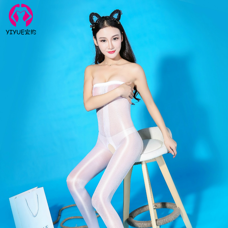 Kailuan Siamese Stockings Sexy Underwear Free Temptation Oily Tube Top with High Waist Stockings Pantyhose Lingerie Teddy in Teddies Bodysuits from Novelty Special Use