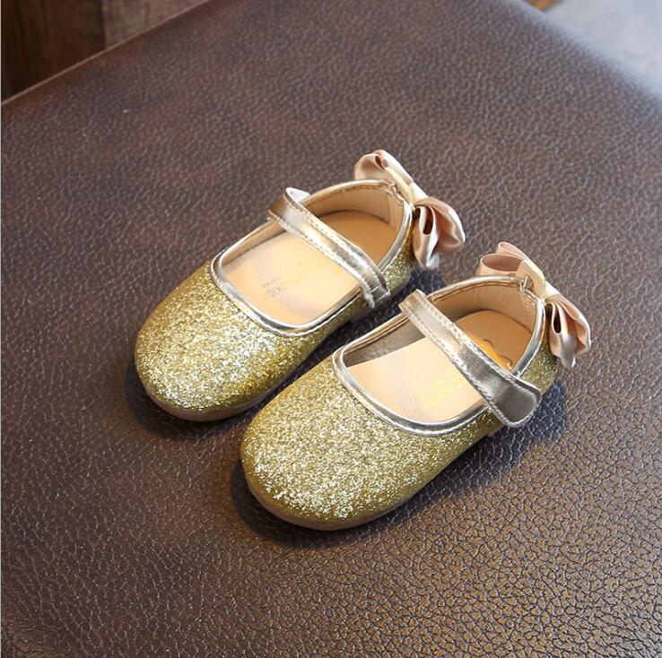2018 Spring New Girl Princess Soft Bottom Children Bow Fashion Leather Shoes Kids Baby Toddler Girl Shoes 1 23 4 5 6 Years