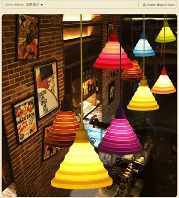 DIY Simple Plastic Droplight Modern LED Pendant Light Fixtures For Living Dining Room Bar Hanging Lamp