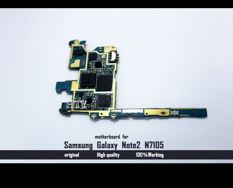 Original 100 working Unlocked Motherboard For Samaung Galaxy Note2 N7105 Mainboard With Full Chips Logic Board