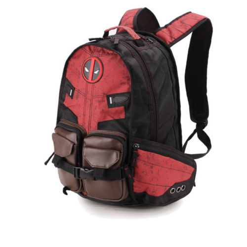 Marvel Deadpool Backpack Laptop Backpack deadpool bag Good Quality Same Day Shipping