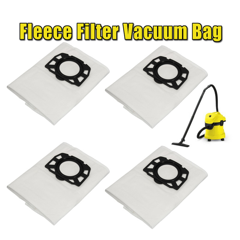 цена на 4Pcs High Quality Fleece Filter Vacuum Bags Fit for Karcher WD 4.290 MV 4 MV 5 WD 5.200 MP WD 5.600