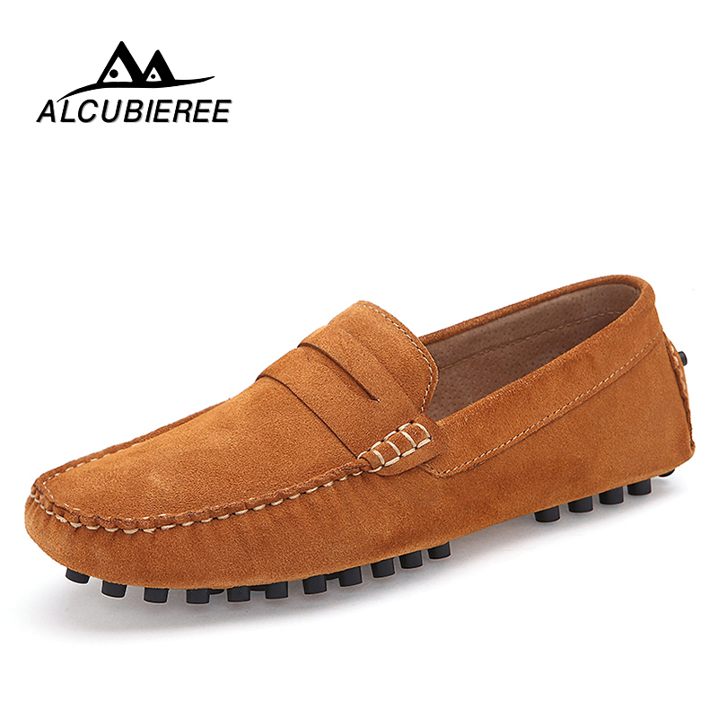 Men Casual Suede Leather Loafers Black High Quality Driving Moccasins Gommino Slip on Men Loafers Shoes Male Loafers Big Size casual high quality men s suede leather slip on loafers driving shoes fahion boat shoe mens handmade moccasins f40