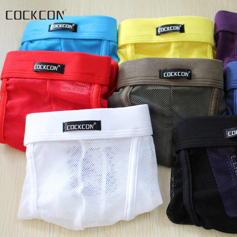 7098d26f2340 Detail Feedback Questions about Cockcon Boxer Shorts Men Male net grid Cueca  Underwear Mesh see through Sexy underpants panties thin breathable hombres  ...
