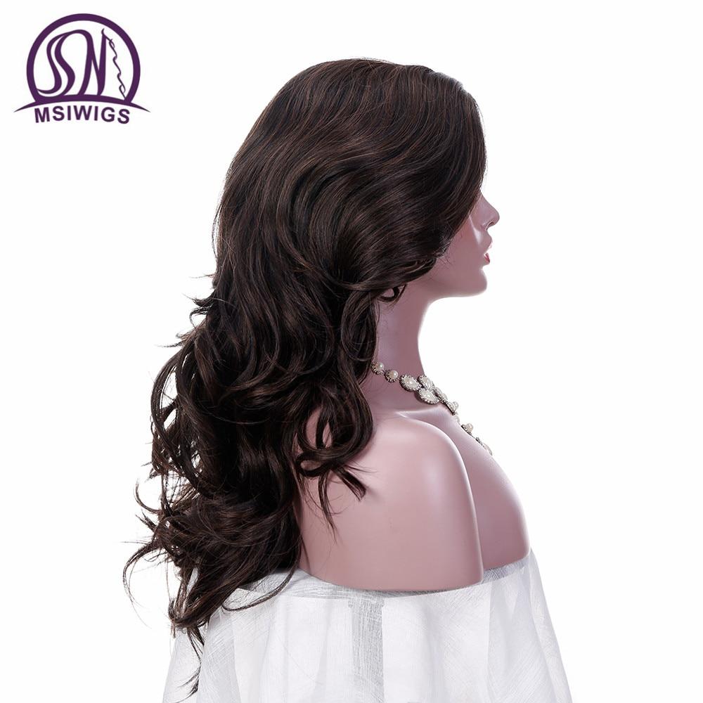 MSIWIGS 24 ίντσες μακρυές κυματιστές - Συνθετικά μαλλιά - Φωτογραφία 5